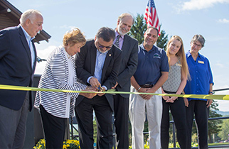 Sky Lodge Ribbon Cutting at Unity College